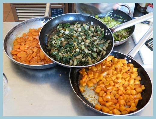 Verdure cotte, pronte per il pranzo